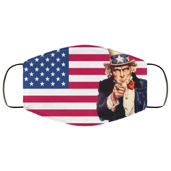 Uncle Sam Flag us Face Mask