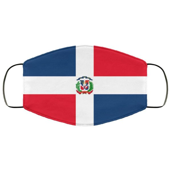 Fichier-Flag of the Dominican Republic Face Mask