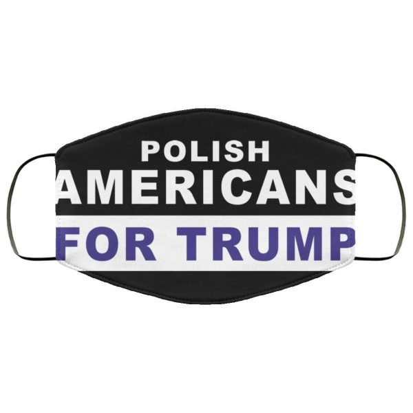 Polish Americans for Trump Face Mask