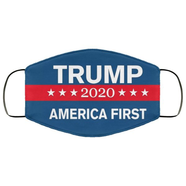 TRUMP 2020 America First Flag Face Mask