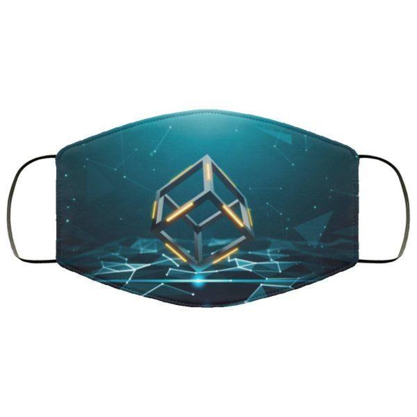 Abstract Blockchain Macbook Pro Face Mask