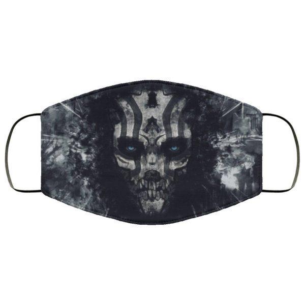 Black Evil Wallpapers Face Mask