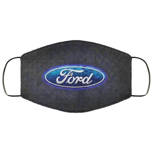 Ford Emblem Wallpaper Face Mask