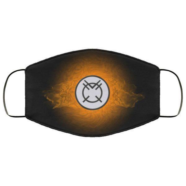 Orange Lantern Corps HD Face Mask