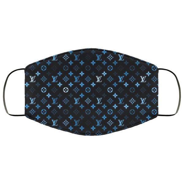 Blue louis vuitton logo Face Mask