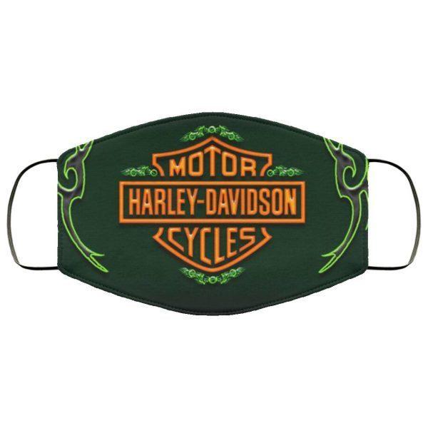 Green harley wings – Harley Davidson Face Mask