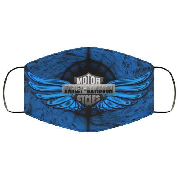 Harley-David-son Logo With Blue Face Mask