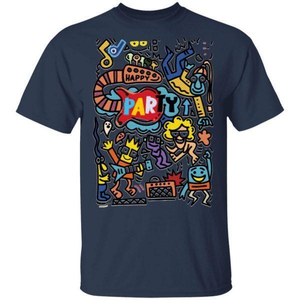 Hand drawn, doodle party set. T-Shirt