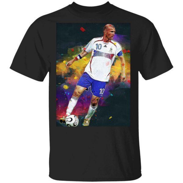 Zinedine Zidane France Legend Digital Painting T-Shirt