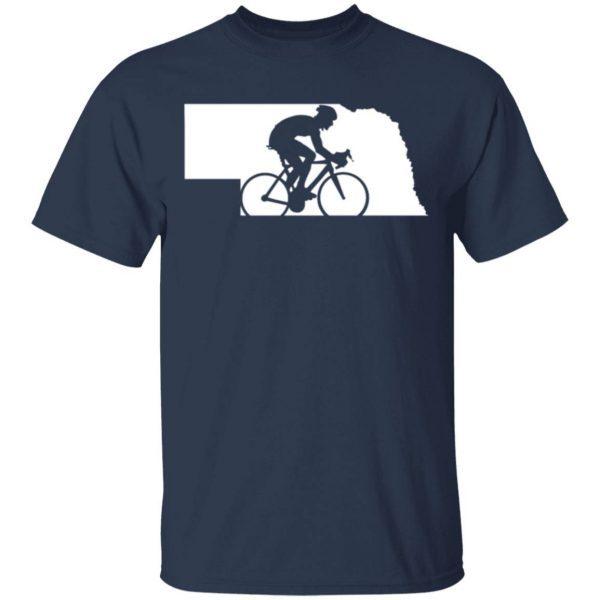 Nebraska Biker Map 0346 T-Shirt