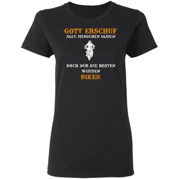 Gott Erschuf Geschenk Biker Sport Motorcycle 0622 T-Shirt