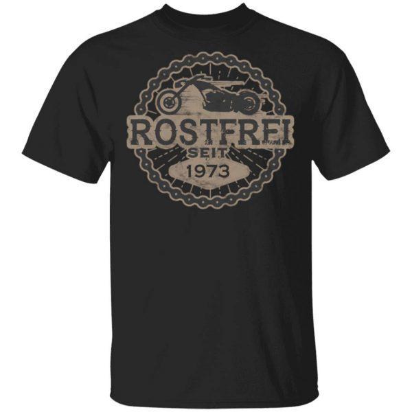 Born To Ride Biker Oldtimer Motorrad 1973 0788 T-Shirt