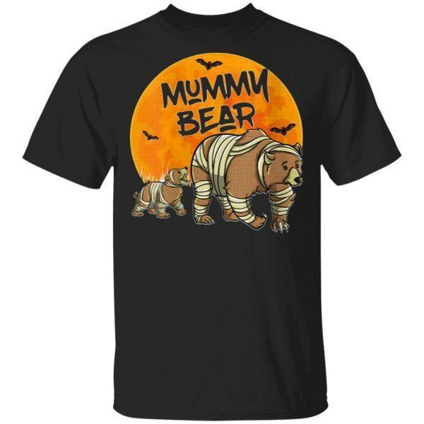 Womens Mama Bear Halloween Costume Shirt Cute Mummy Bear Mom VNeck T-Shirt