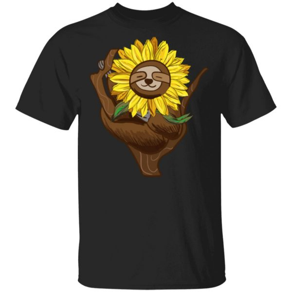 Sloth Sunflower Sloth Cute Sloths T-Shirt
