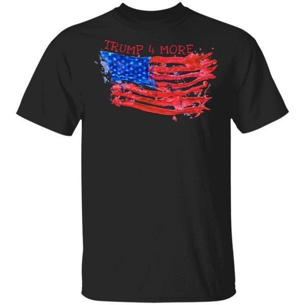 Patriotic American Flag 4 More Years Pro Trump 2020 T-Shirt