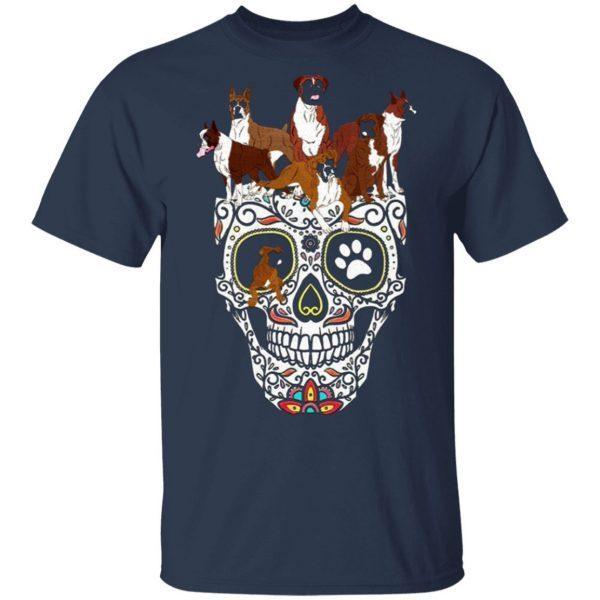 boxer Shirt Halloween Skull Costumes Gift boxer Halloween Shirt Costume Funny boxer Shirt T-Shirt