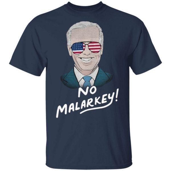 Joe Biden no malarkey American flag shirt