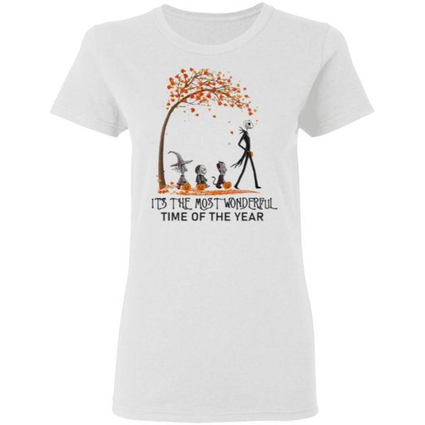 Jack Skellington it_s the most wonderful time of the year Halloween shirt