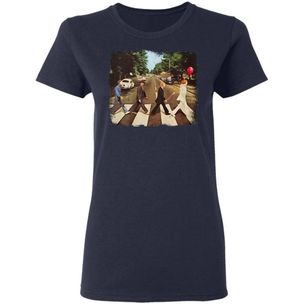 Horror movie characters abbey road halloween T-Shirt