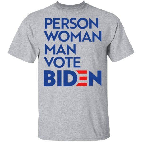 Person Woman Man Vote Biden Shirt