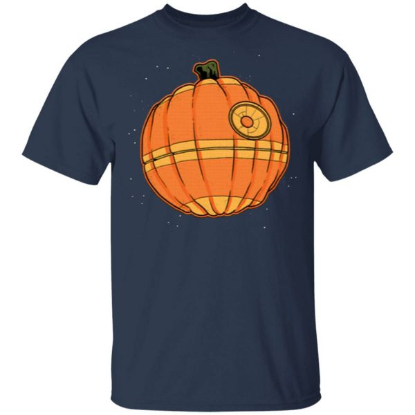 Death Star Pumpkin Star Wars Halloween T-Shirt