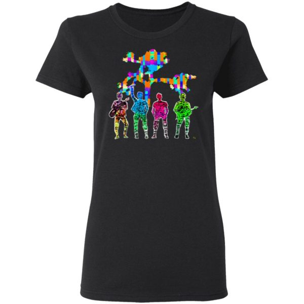 The Irish Rock Band In Saturated Color T-Shirt