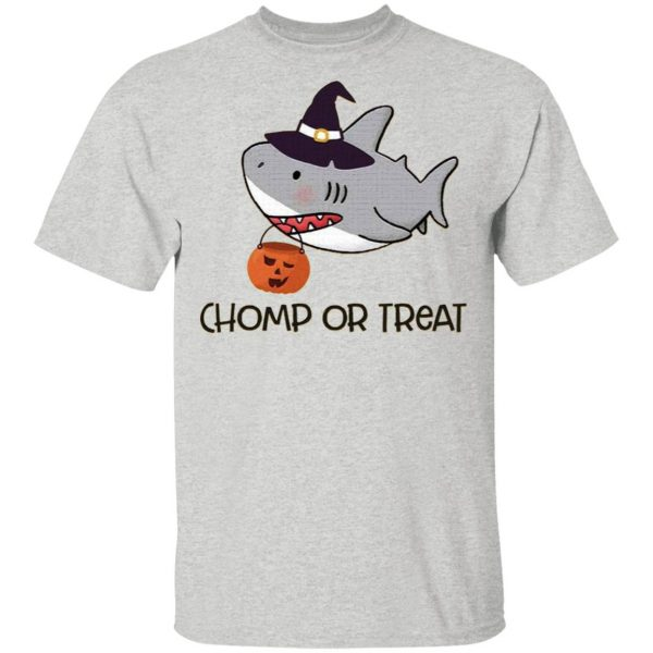 Chomp or Treat Shark Witches Halloween T-Shirt