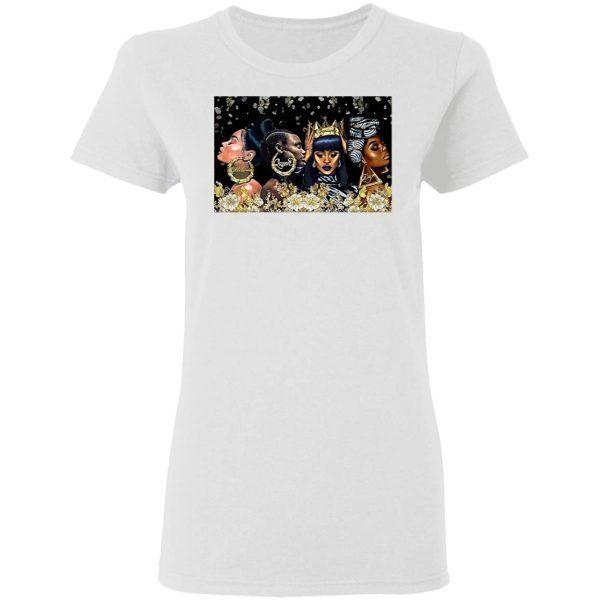 Beautiful Black Woman Dope Poster Horizontal T-Shirt