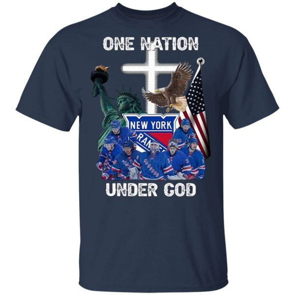New York Rangers One Nation Under God T-Shirt