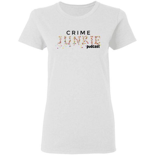 Crime Junkie Merch Pills Logo White T-Shirt