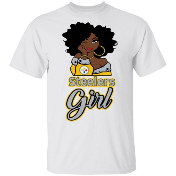 Black Girl Pittsburgh Steelers T-Shirt