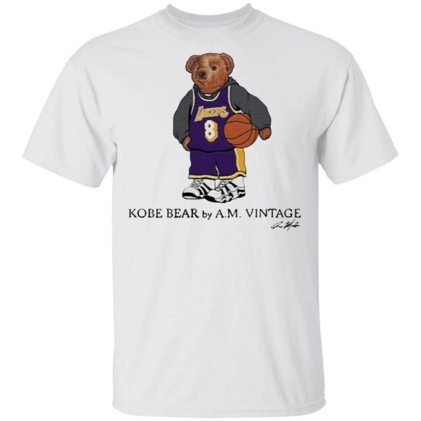 Kobe Bear by A.M vintage signature T-Shirt