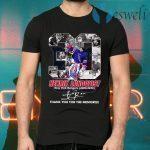 30 Henrik Lundqvist New York Rangers 2005 2020 thank signature T-Shirts