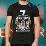 7 world series Champions Los Angeles Dodgers 1955 2020 T-Shirts