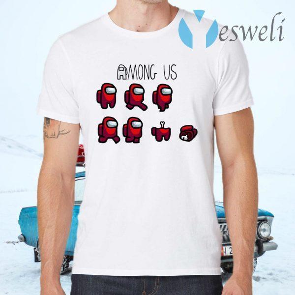 Among Us Merch Character T-Shirts