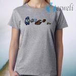 AmongUs Merch Impostor Sheet Character T-Shirt