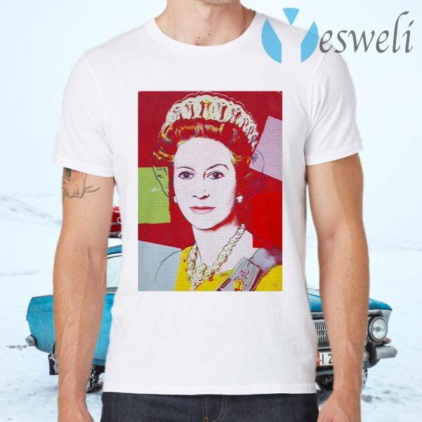 Andy Warhol Queen Elizabeth England Pop Art 60s T-Shirts