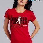 Aristides Aquino Cincinnati Reds The Punisher Ladies Women T-Shirts