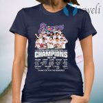 Atlanta Braves National League Championship Series Champions 2020 Thank You For The Memories Signatures T-Shirt