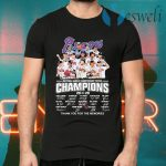 Atlanta Braves National League Championship Series Champions 2020 Thank You For The Memories Signatures T-Shirts