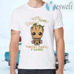 Baby Groot Rock paper scissors throat punch I win T-Shirts