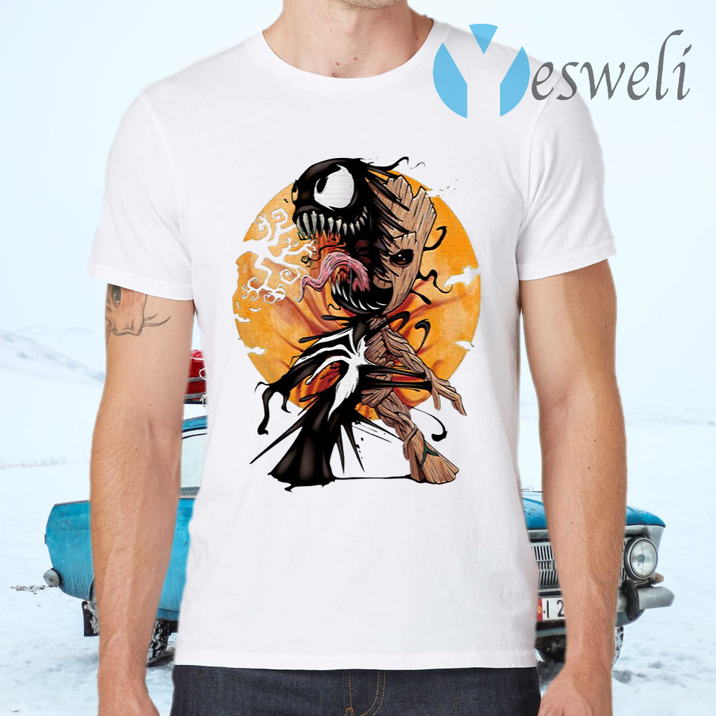 Baby Groot Venom moon Halloween T-Shirts