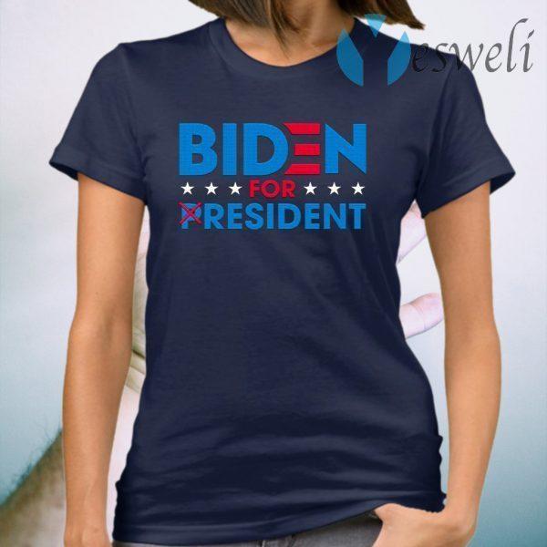 Biden For Resident Funny Trump Mocking Joe Biden T-Shirt