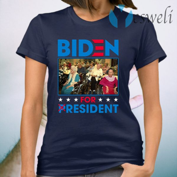 Biden For Resident Funny Trump Mocking T-Shirt