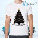 Black Cats Meowy Christmas Tree T-Shirts