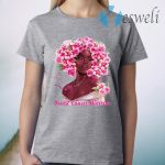 Black Girl Pink Warrior Breast Cancer Awareness T-Shirt