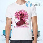 Black Girl Pink Warrior Breast Cancer Awareness T-Shirts