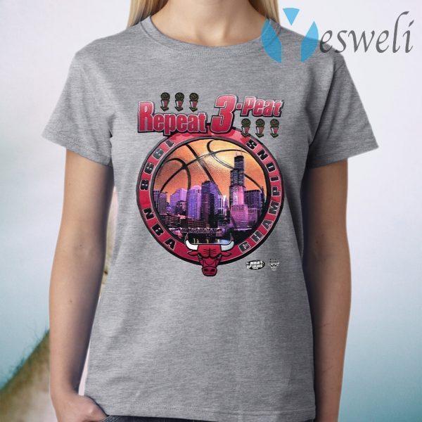 Bulls repeat 3 peat T-Shirt