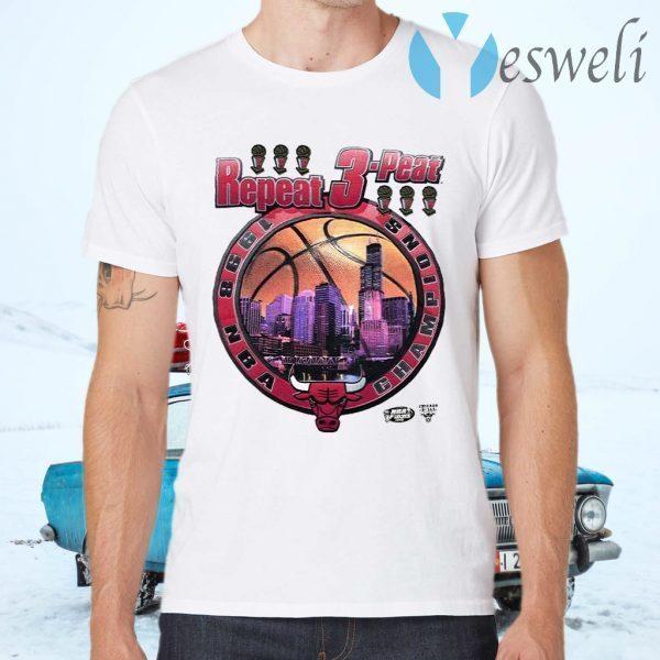Bulls repeat 3 peat T-Shirts