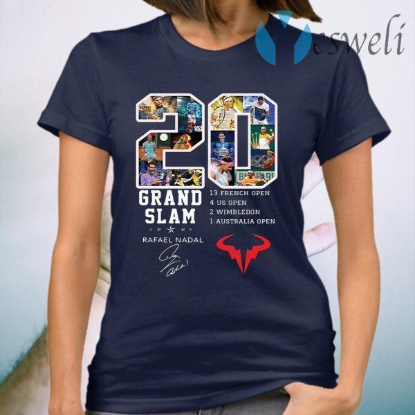 Champion 20 Grand Slam Rafael Nadal signature T-Shirt